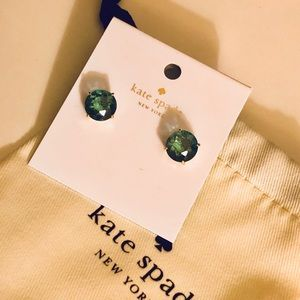 NWT♠️KATE SPADE Gumdrop Stud Earrings Green/Gold